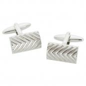 83a782d4d34 Запонки Silver herringbone textured